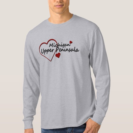Michigan Upper Peninsula Long Sleeve T-shirt