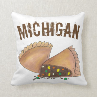 Michigan Upper Peninsula Pasty Meat Pie Foodie Cushion