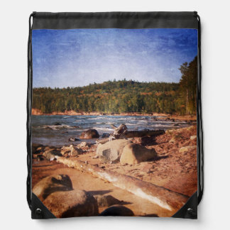 Michigan Upper Peninsula Shoreline Cinch Bag