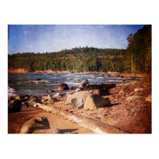 Michigan Upper Peninsula Shoreline Postcard