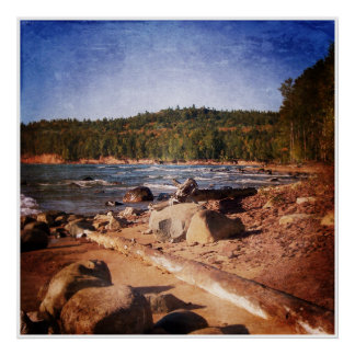 Michigan Upper Peninsula Shoreline Poster