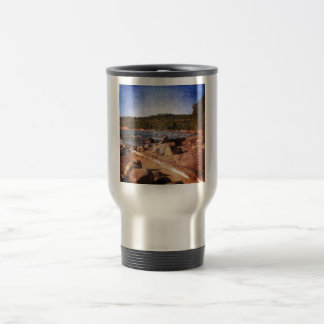 Michigan Upper Peninsula Shoreline Stainless Steel Travel Mug