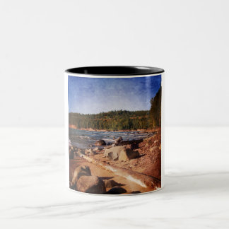 Michigan Upper Peninsula Shoreline Two-Tone Mug