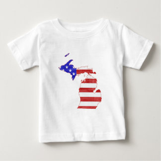 Michigan USA flag silhouette state map Baby T-Shirt
