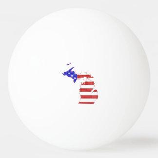 Michigan USA flag silhouette state map Ping Pong Ball