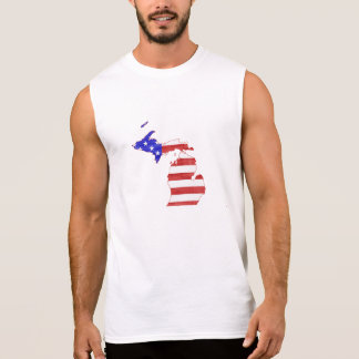 Michigan USA flag silhouette state map Sleeveless Shirt