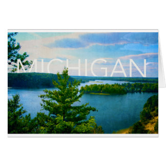 michigan view of au sable river card