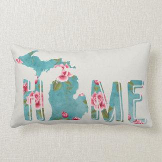 Michigan Watercolor | Shabby Roses | HOME Lumbar Cushion