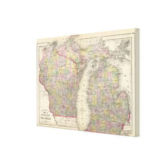Michigan, Wisconsin Canvas Print