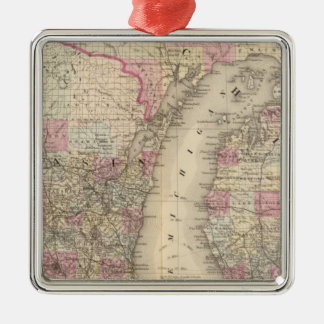 Michigan, Wisconsin Christmas Ornament