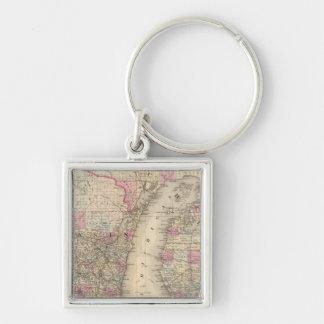 Michigan, Wisconsin Key Ring