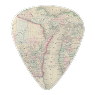 Michigan, Wisconsin Map by Mitchell Acetal Guitar Pick