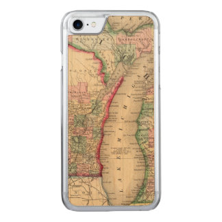 Michigan, Wisconsin Map by Mitchell Carved iPhone 8/7 Case