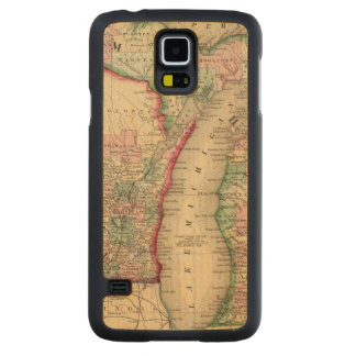 Michigan, Wisconsin Map by Mitchell Carved Maple Galaxy S5 Case