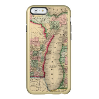 Michigan, Wisconsin Map by Mitchell Incipio Feather® Shine iPhone 6 Case