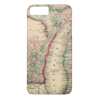 Michigan, Wisconsin Map by Mitchell iPhone 7 Plus Case