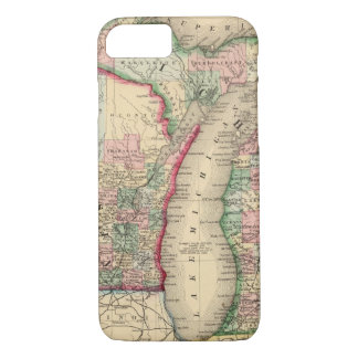 Michigan, Wisconsin Map by Mitchell iPhone 8/7 Case