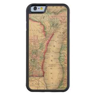 Michigan, Wisconsin Map by Mitchell Maple iPhone 6 Bumper
