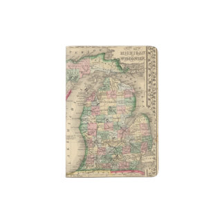 Michigan, Wisconsin Map by Mitchell Passport Holder