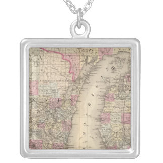 Michigan, Wisconsin Silver Plated Necklace