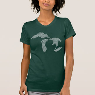 Michigan Women's Wave Design T-Shirt