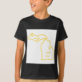 Michigan worst state ever gold T-Shirt
