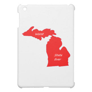 Michigan worst state ever red solid iPad mini cover