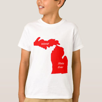 Michigan worst state ever red solid T-Shirt