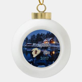 Michigander Christmas! Ceramic Ball Christmas Ornament