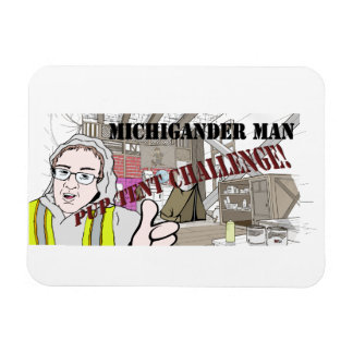 Michigander Man Pup Tent Challenge!!! Magnet