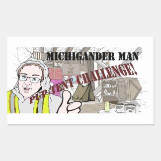Michigander Man Pup Tent Challenge!!! Rectangular Sticker