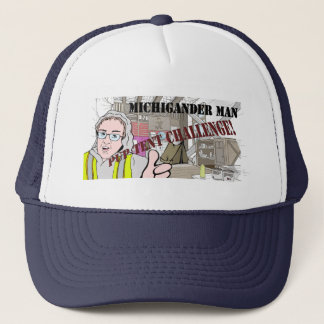 Michigander Man Pup Tent Challenge!!! Trucker Hat