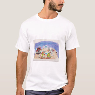 Mick and Hoppa, First Aussies on the Moon. T-Shirt