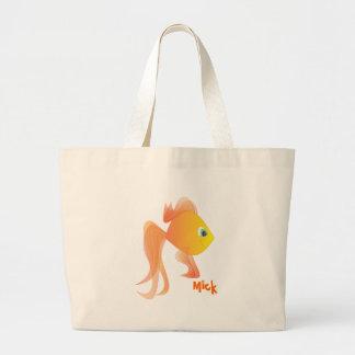 Mick the Goldfish Jumbo Tote Bag