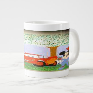 MICKEY AND MINNIE under the tree Jumbo Mug