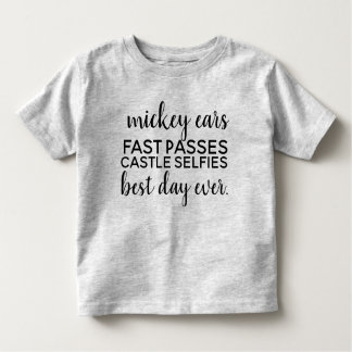 mickey ear fast passes toddler T-Shirt