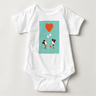 Mickey & Minnie Watercolor Clear Soft Love T-SHIRT