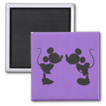 Mickey Mouse & Minnie  Silhouette Magnet