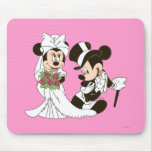 Mickey Mouse & Minnie Wedding Mousepads