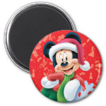 Mickey Mouse on Snowflake Refrigerator Magnets