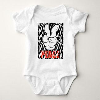 Mickey Peace Symbol Fingers Baby Bodysuit