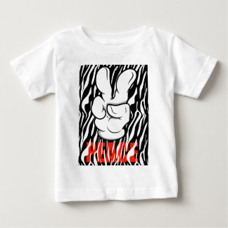 Mickey Peace Symbol Fingers Baby T-Shirt