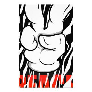 Mickey Peace Symbol Fingers Custom Stationery