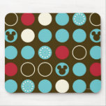 Mickey Retro Polka Dot Pattern Mouse Pads