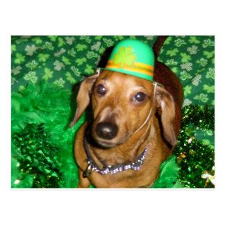 Mickey's St Pattys Day Hat Postcard