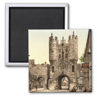 Micklegate Bar, York, Yorkshire, England Square Magnet