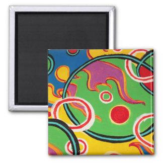 Micro Bubbles Square Magnet