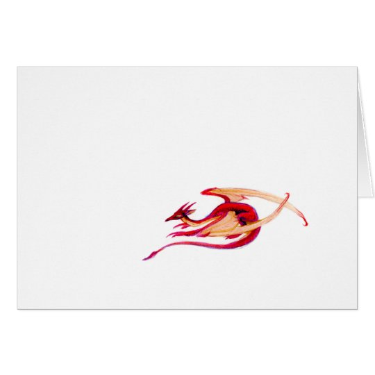 Micro Dragon Greeting Card! Card