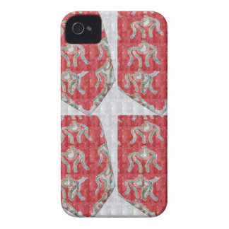 MicroART Wrestlers Wrestling Chinese RED sparkle 7 iPhone 4 Cases