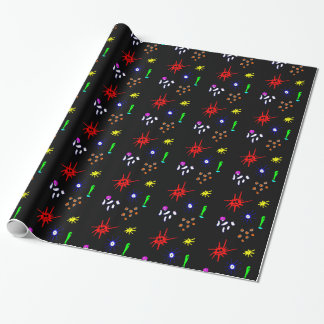 microbes on black wrapping paper